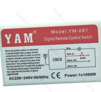 новый беспроводной цифровой стене 220v-240v 1 порт переключить ресивер box + пульт дистанционного управления