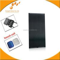 155W Black Slar photovoltaic/Mono Soalr panel manufacturer