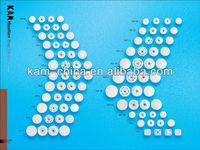 Wholesale:KAM Clear Snap Buttons Press Button Cloth Diaper,Transparent Springs KAM T-5 Snap