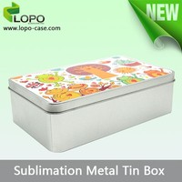 Hot Customized sublimation heat press tin sugar boxes wholesale for sale
