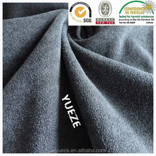 polyester/spandex Tricot elastic suede fabric