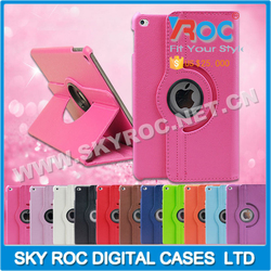 New Arrival 360-Degree Rota Smart Tablet Leather Case Cover For IPAD MINI4