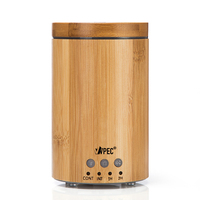 2015 ultrosonic bamboo new aromatherapy essential oil diffuser with 7 color changing LED
