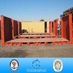 ISO 20ft flat rack shipping container from china to canada