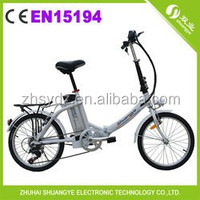2015 Hot Selling 20'' small wheel folding electric bicycle A3-AL20