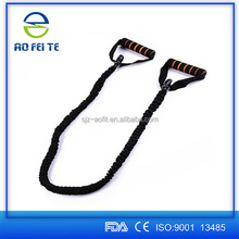 High quality best selling crossfit resistance bands, light/medium/heavy level resistance bands/tube nylon covered