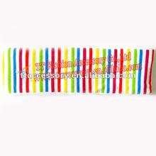 2013 top fashion braid hair band with printings wholesale(rainbow color)