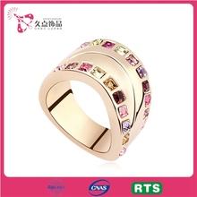 Fashion Unique Jewelry Zircon Gold Wedding Ring JD0004