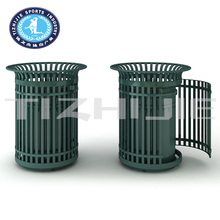 Residential Community High Quality Cast Iron Outdoor Trash Bin,Hot Sale Cheap Outdoor Dust Bin for Park,Outdoor Steel Dustbin