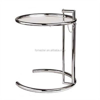 two layers glass small cafe Eileen Gray side table