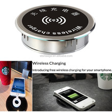 60mm Qi Wireless Office Table Furniture charger for mobile phone wireless charger waterproof