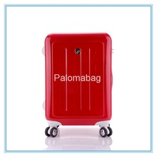eminent cheap gift plastic ABS PC suitcase luggage trolley ,4 universal wheel luggage