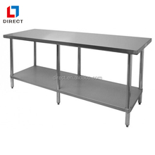 S/S 430 Flat Top stainless steel kitchen work table