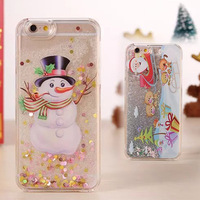 Flowing liquid Christmas gift phone case for iPhone 6s