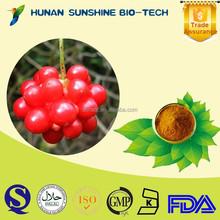 100% Natural Schisandra frutas P.E. com proteção do fígado função