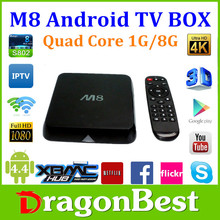 Dragonbest High promoting !!! Android 4.4 1GB ram 8 GB flash support 4k XBMC porn M8 ott tv box porn