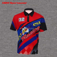 Racing jerseys pit crew tee wholesale men motocross shirt