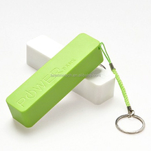 2600mAh Promotional Small Lithium Battery Portable Power Bank with Keychain for Mobile Phone Battery Charger