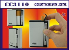 Best selling personalized cigarette case with lighter