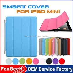 Wholesale Ultra Thin PU Leather Case for iPad mini Smart Cover,Magnetic Case Sleep On/Off for Apple iPad mini 2,3,4