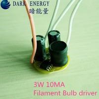 120V 3w Filament Bulb led driver 10MA power supply