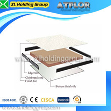 high quality wood core raised access floor with PVC tile