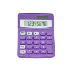 8 digit mid desktop calculator, small calculator for family, normal colorful calculator