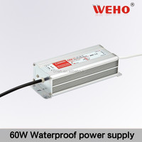 IP67 used for outdoor waterproof 60W single output 12v 2.5a led driver