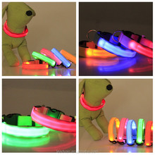 Pet Products 8 Fashion Color 3 Flashing Mode Dog Luminous Collar