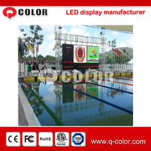 Outdoor swimming pool rental led display screen playing video,time and temperature
