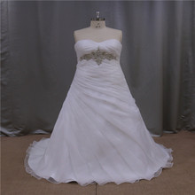New vintage promotion tank top long back romantic wedding dress with beading