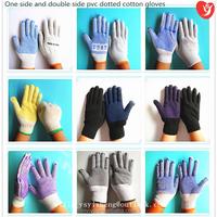 55g, 60g, 65g,...,80g, 85g;70g,75g, ...,100g 7/10 gauge single/double side industrial pvc dot cotton knitted work glove
