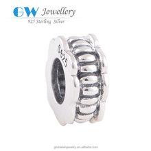 Fashion 925 Sterling Silver European Bead Vintage Charm Women DIY Jewelry Findings Fit Bracelet YZ402