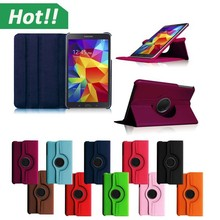 Stand 360 Rotating leather case for Samsung Galaxy Tab 4 8inch Tablet Cover Case