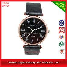 Manufactured In China Fashion Cheap leather Wrist Mens Japan/Chinese Movt wrist watch 2015