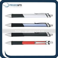 blue ink metal pen 4-color metal pen metalball pen rubber touch