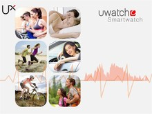 UX Bluetooth Smart Watch Cheap For iPhone/android Phones heart rate health smart watch