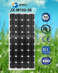 Direct factory sale price, solar panels 100w monocrystalline, best price per watt