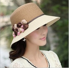 NZM71 new flowers sun hat summer stylish women straw beach hat