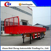 Chinese side wall cargo trailer 3 axles insulated cargo trailer
