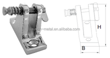 Marine Hardware Deck Hinge Angle Base with Spring pin AISI316 butt hinge gemel Coupling hinge Angle Base with spring pin