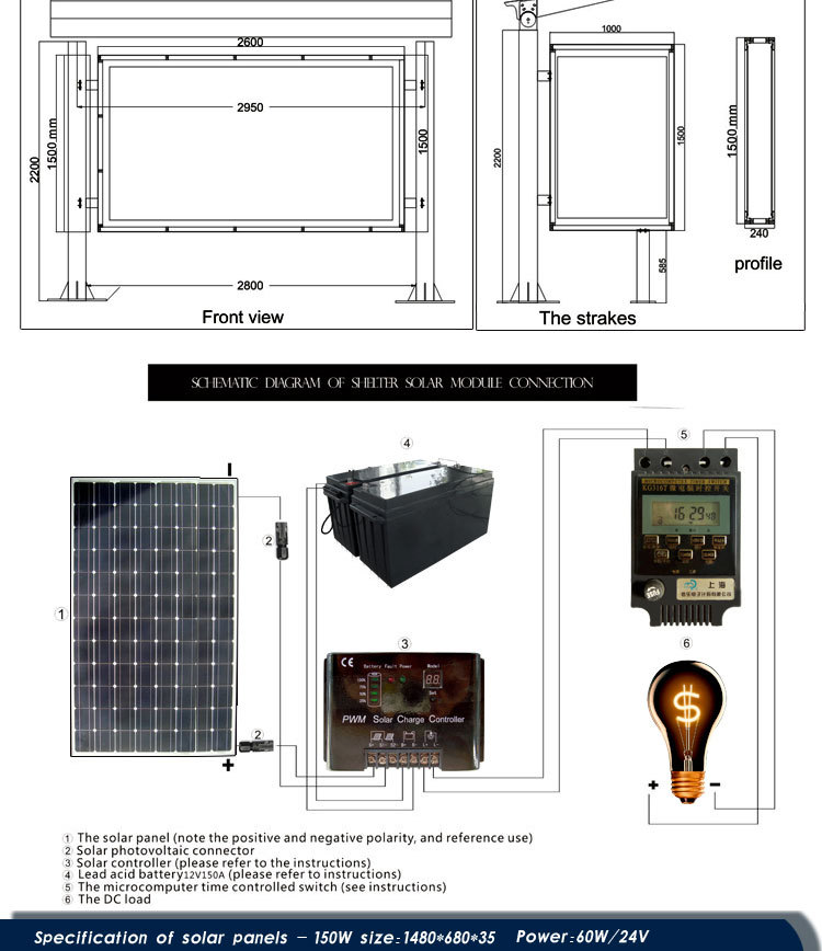Solar For America >> solar led street light price street advertising sign board material light up picture frame bus ...