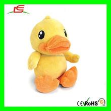 E453 Cute yellow/Black Plush Duck Doll