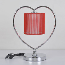 JL-136 festival red heart-shaped lamps table lamp