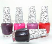 2015 venta caliente nuevo diseño agrietada de esmalte de uñas de color