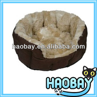 Pet Puppy Cat Soft Short Fleece Cozy Warm Nest House Dog Bed