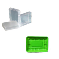 Hot sale low price blister PET green plastic food tray,clear plastic packing box for electron made in china