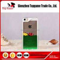 Back liquid pc cases for iPhone 6 Plus ,Liquid and Tropical Fish Case