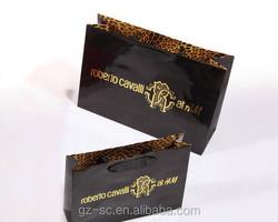Black kraft paper bag ideal advertisements shopping gifts packing bag