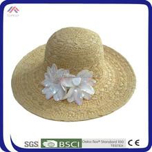 2015 new design fashion straw hat, floppy wide brim straw hat